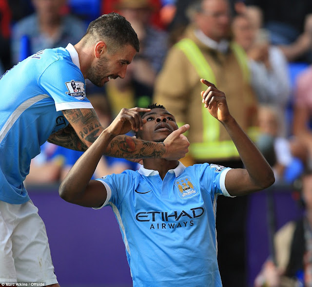 Iheanacho celebrates his winner in the final minute