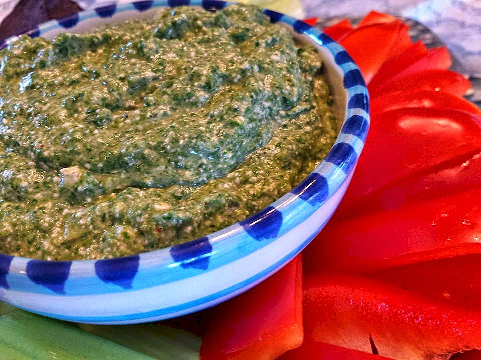 Spinach Blue Cheese Dip has all-natural ingredients including Naturally Fresh salad dressing.