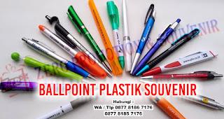 Jual Ballpoint Plastik Souvenir, Barang Promosi Pulpen Plastik Termurah di Tangerang