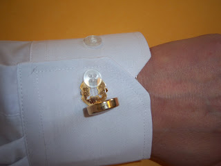 Photo of putting on a button cover