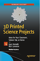 book cover, 3d printed science projects