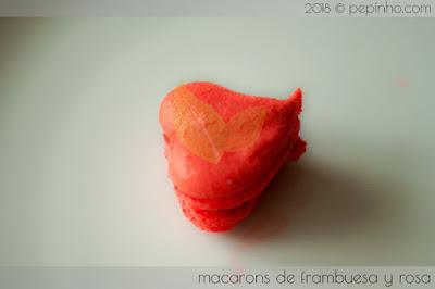 Macarons rosa y frambuesa