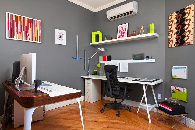 oficina color gris