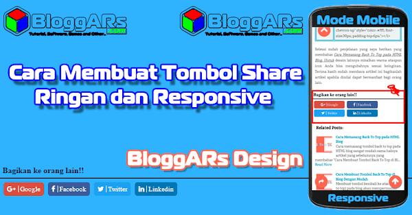 Cara Membuat Tombol Share Ringan dan Responsive di Blog