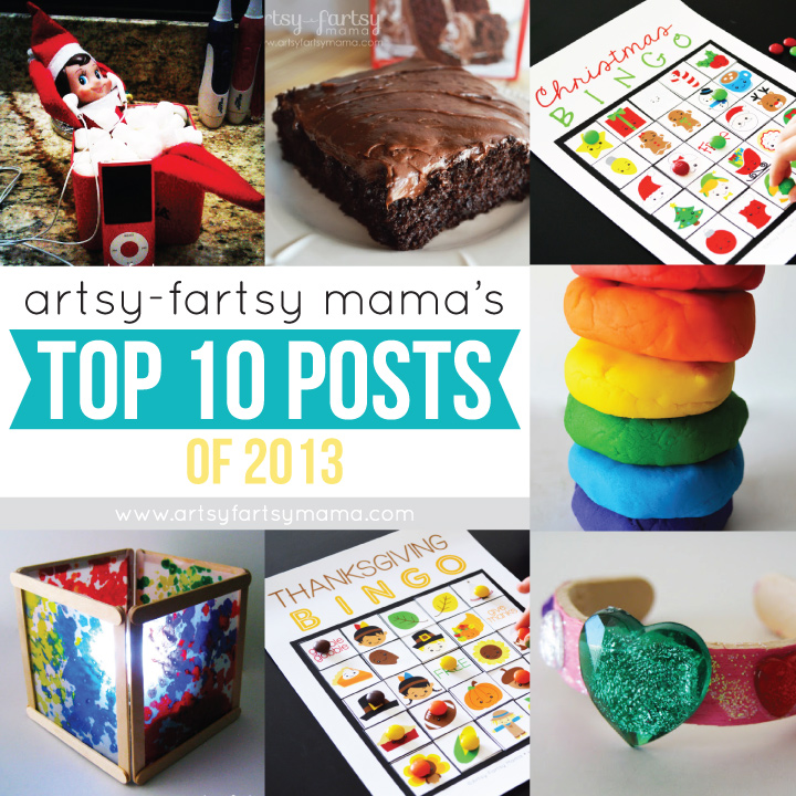 Artsy-Fartsy Mama's Top 10 Tutorials & Recipes of 2013 at artsyfartsymama.com