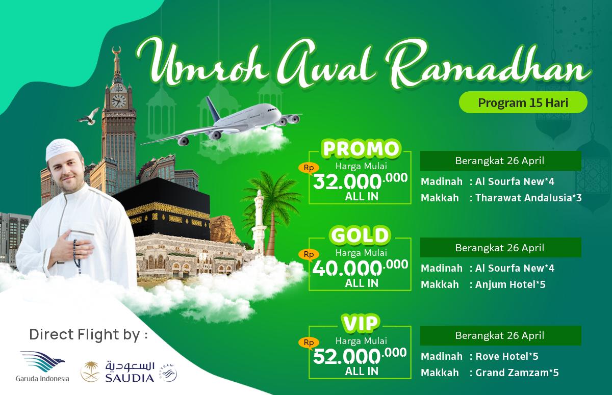 Promo Paket Umroh Biaya Murah Jadwal Awal Bulan Ramadhan 2020 15 Hari