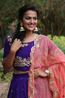 Actress Shraddha Srinath in Purple Chania Choli Cute Pics ~  Exclusive 54.jpg