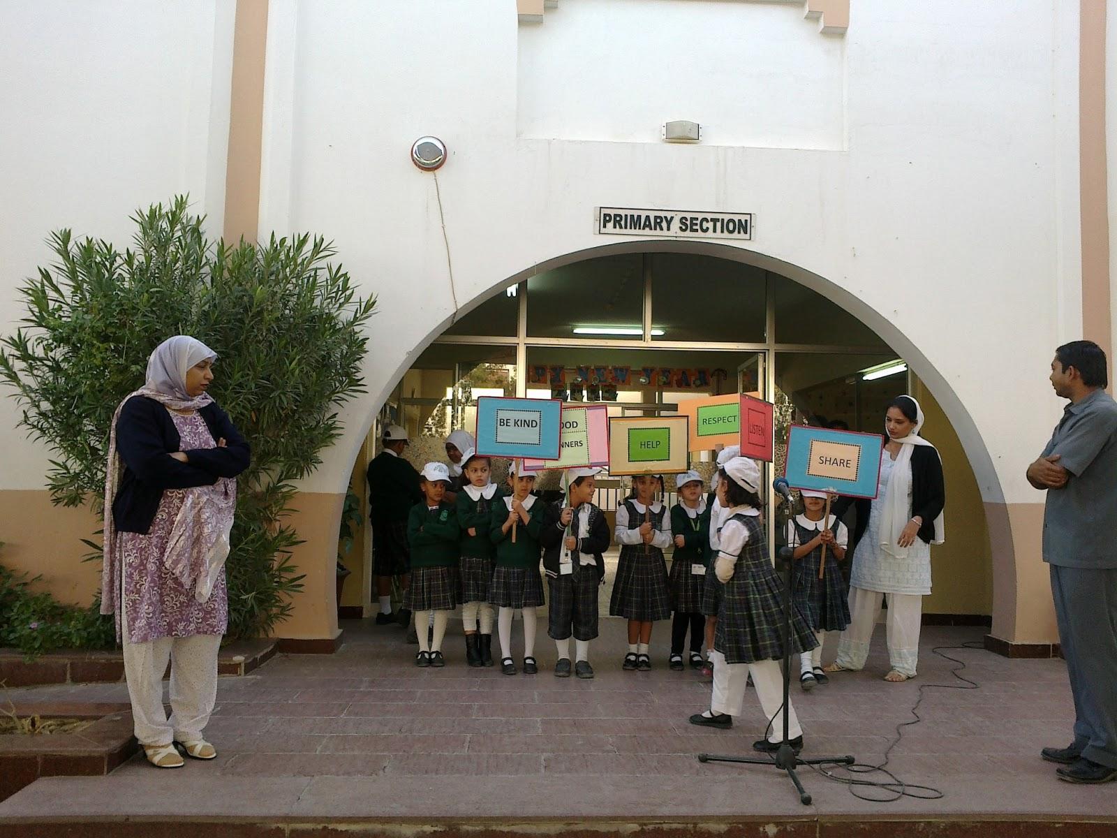 Arab Unity School Grade 1 D Blog Assembly