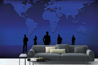 World Map Wallpaper For Walls