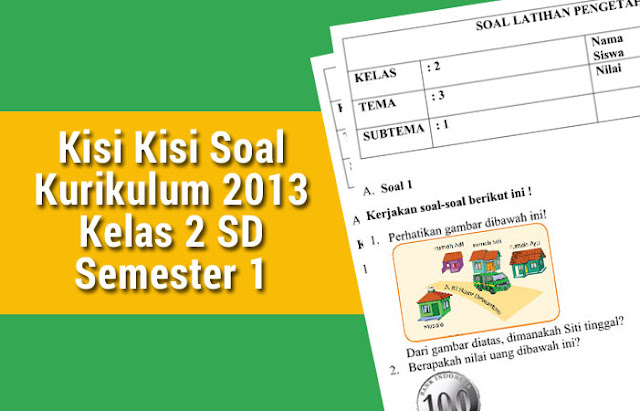 Kisi Kisi Soal Kurikulum 2013 Kelas 2 SD Semester 1