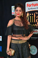 Ritika Singh in a Ethnic Deep Neck Dark Green Choli Ghagra at IIFA Utsavam Awards March 2017 ~ 021.JPG