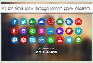 20 Ikon Gratis Untuk Berbagai Macam projek Websitemu