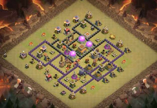 Base Clash of Clans Town Hall 8 Terkuat tipe WAR anti GOWIPE