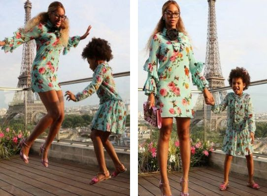 Beyonce and daughter Blue Ivy dazzle in matching outfit