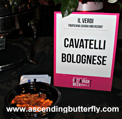 Cavatelli Bolognese prepared by Il Verdi Restaurant, Tropicana Casino and Resort