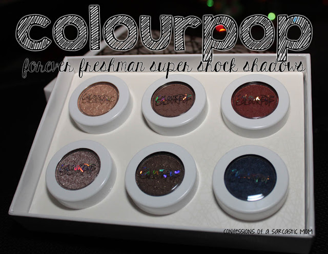 ColourPop Forever Freshman Super Shock Shadows swatches and review