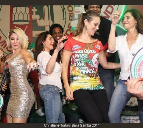 Christiane Torlon bailando en Carnaval de Río