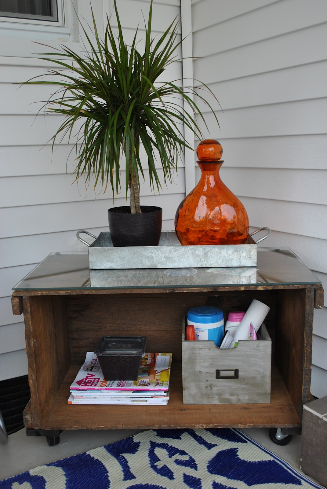 Freckle Wooden Crate Diy Projects Side Table And Storage