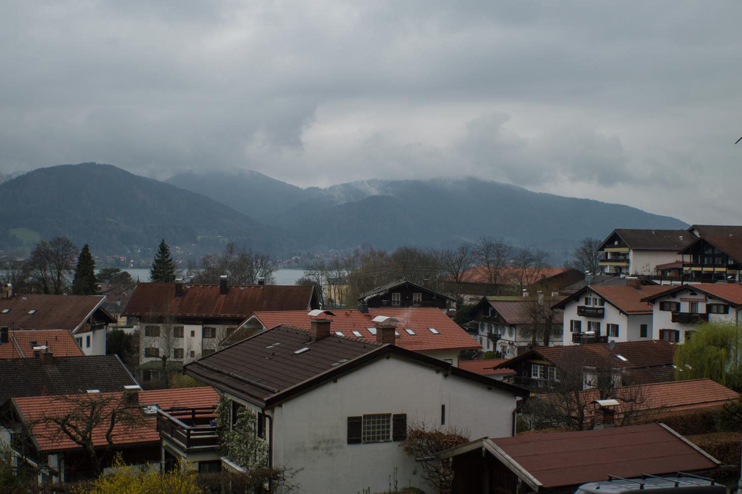 View on Tegernsee from above