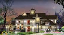 Luxury Villa With Unique Window Design - Kerala Home