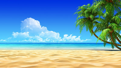 3D Beach Wallpaper HD