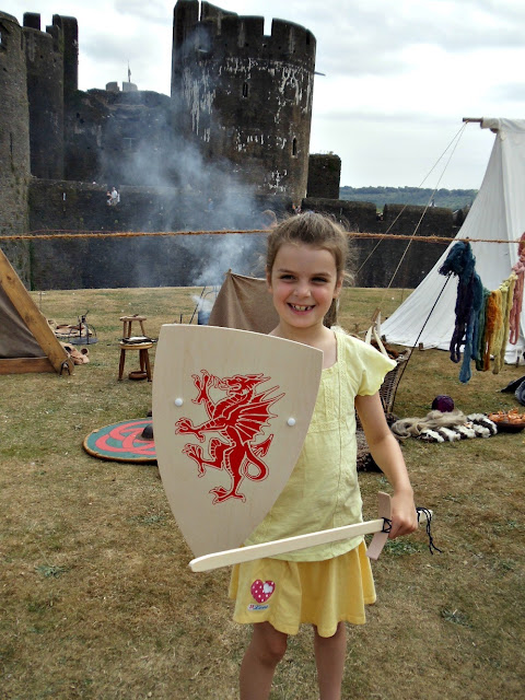 L'il Miss Ty Siriol ready for battle at Caerphilly Castle