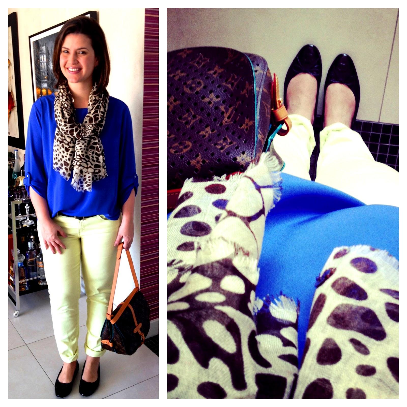 a5adaa75c Sábado eu passei o dia fora de casa o dia todo e precisava de uma roupa  confortável e optei por uma calça verde-lima