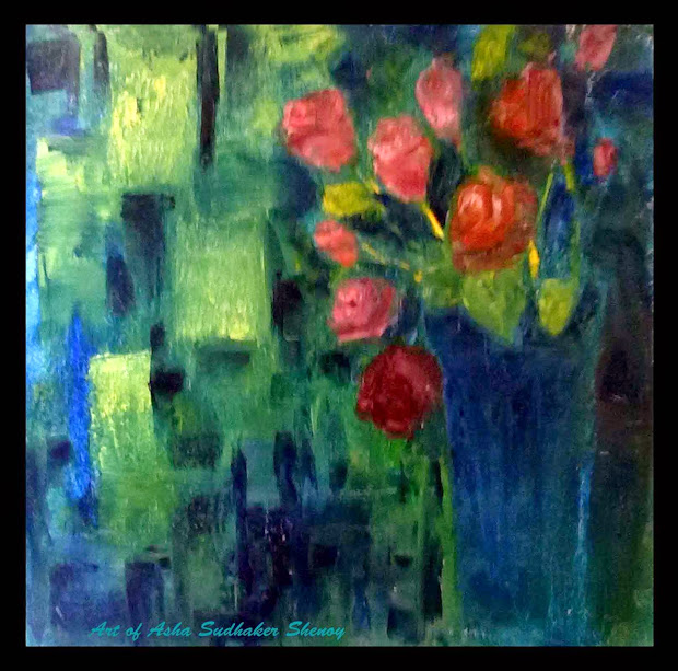 Artist Bangalore Absract In Oils Canvas