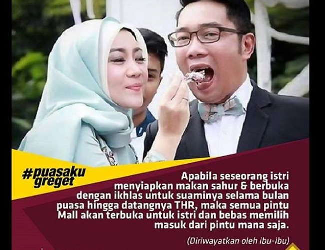 Postingan parodi hadits Walikota Bandung Ridwan Kamil dikritik sejumlah netizen karena dianggap menghina agama.