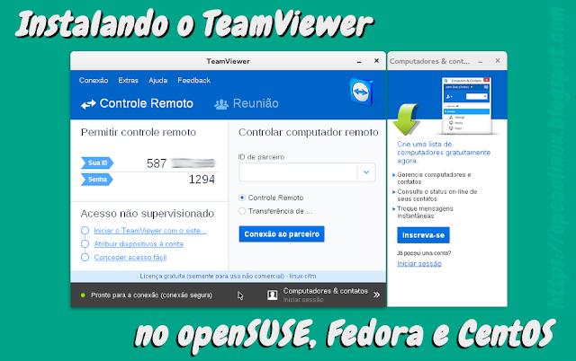TeamViewer no openSUSE. Fedora e CentOS