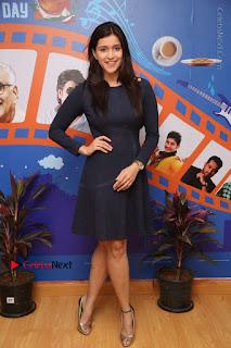 Actress Mannara Chopra Stills in Blue Short Dress at Rogue Song Launch at Radio City 91.1 FM  0094.jpg