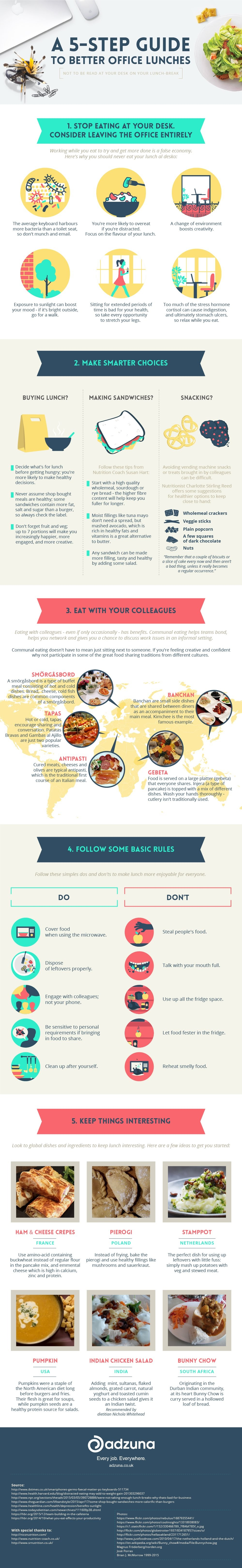 A 5-Step Guide To Better Office Lunches #infographic