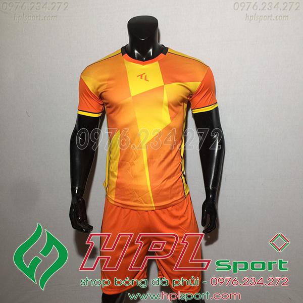 Áo bóng đá không logo TL TBA màu cam
