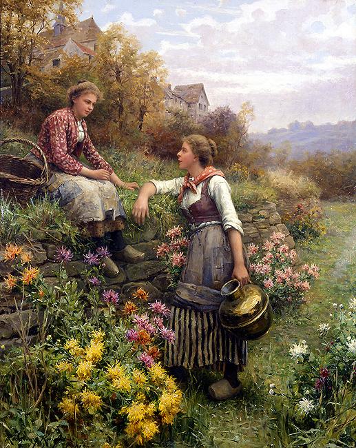 Fofocas - Daniel Ridgway Knight e suas mais belas pinturas