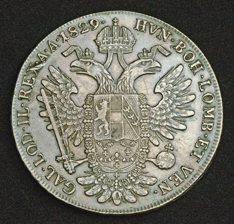 Austrian Silver Thaler Coin Of Emperor Francis I Minted In