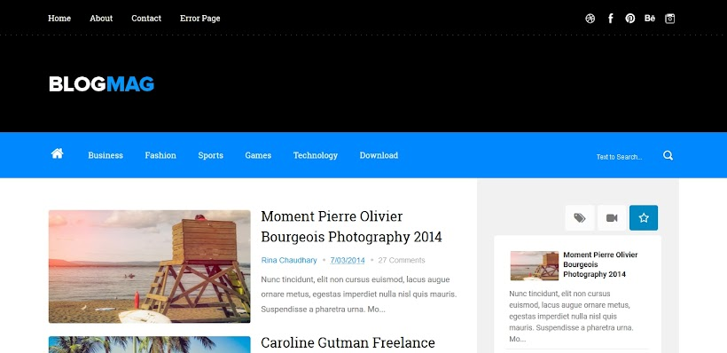 Blogmag Free Blogger Template