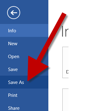 make a word document to pdf
