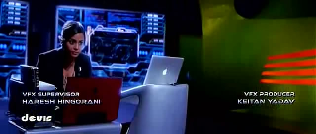 Shahana Goswami operating a computer in Ra.One