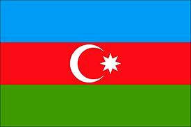 Dibujo de la bandera de Azerbaiyán a colores