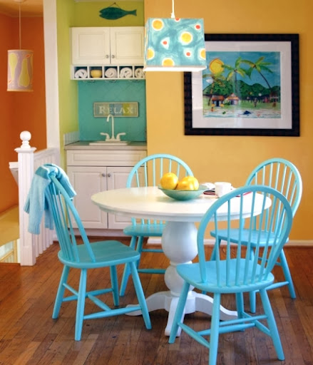 Colorful Dining Room Tables: Maine Cottage -Colorful Furniture And Accessories Inspired