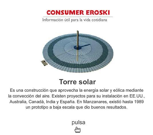 TORRE SOLAR - EROSKI