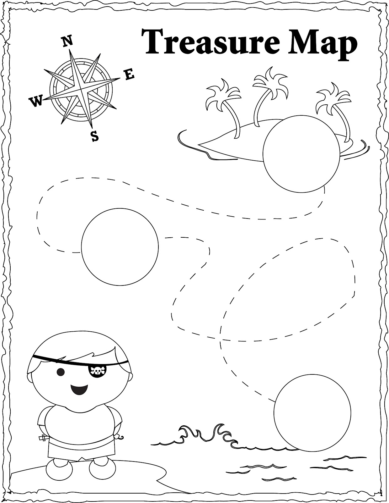 Treasure Map Coloring Pages For Kids. treasure chest coloring pages ...