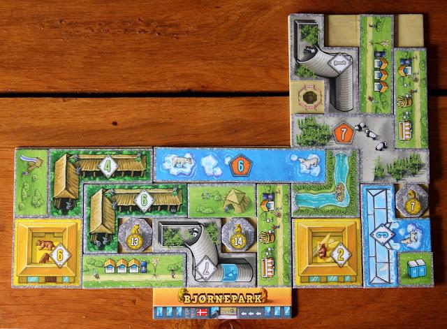 Barenpark board game - completed park | Random Nerdery