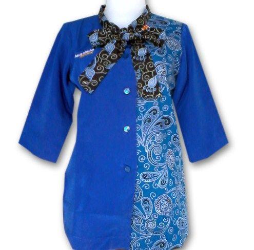 ッ 20+ model baju seragam batik pegawai bank wanita modern ...