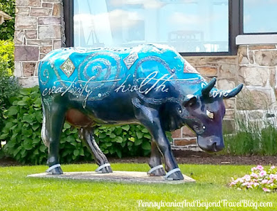 Cow Parade Mootivational Cow in Wormleysburg Pennsylvania