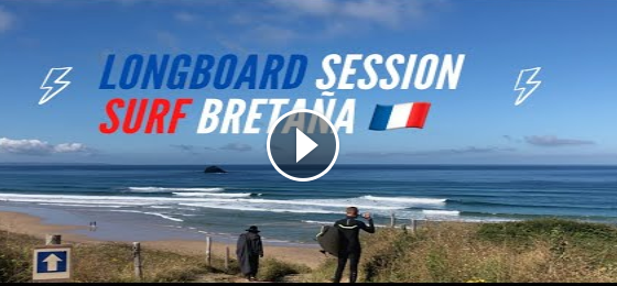 LONGBOARD SESSION en La Palue Surf Francia BRETAÑA