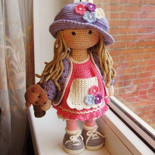 1000 схем амигуруми на русском: Вязаная кукла Мартина