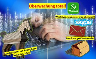 Staat überwacht künftig Whatsapp, Skype und ?