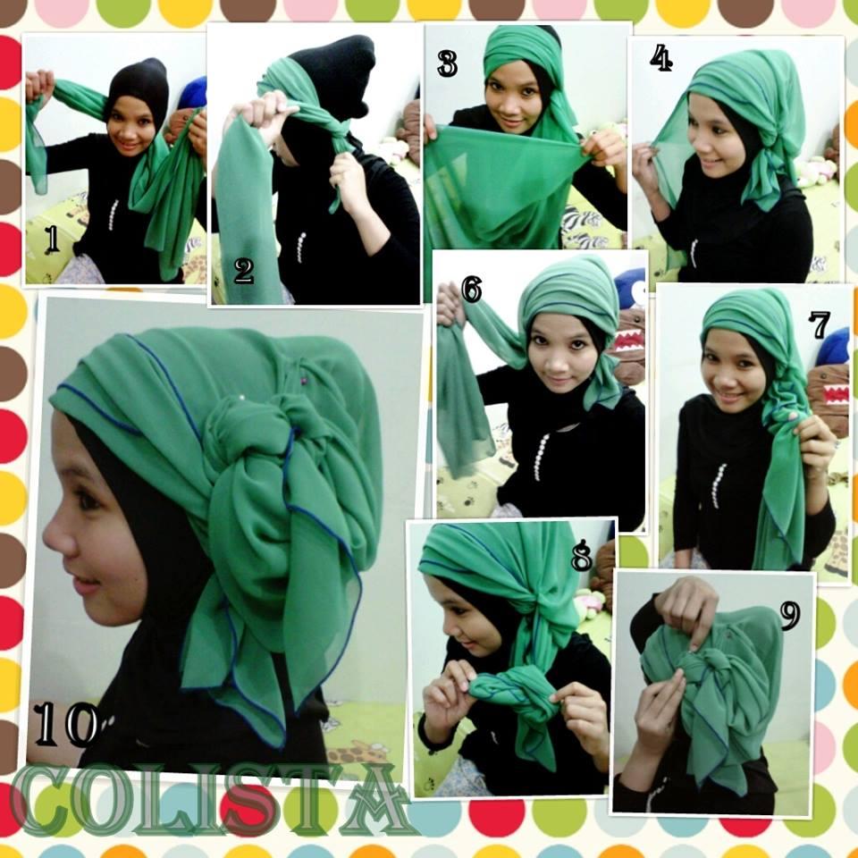 Cara Memakai Kerudung Segi Empat Yang Anggun Trend Hijab