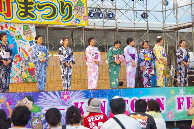 yukatta contest, beautiful summer kimonos